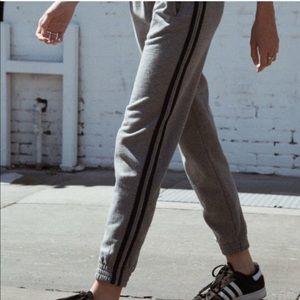 Brandy Melville Rosa side stripe sweatpants - gray